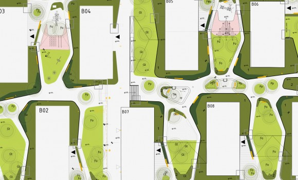 Location: Bratislava, Slovakia Client: Penta investment Area: 2,5 ha Design: 2014 - 2017 Construction: 2016 - 2017 Architecture: ARK Arhitektura Krušec  Landscape architecture: Studio AKKA: Ana Kučan, Luka Javornik, Zaš Brezar, Mojca Kumer 3Tree: Marija Jergova  Photos: Studio AKKA archives